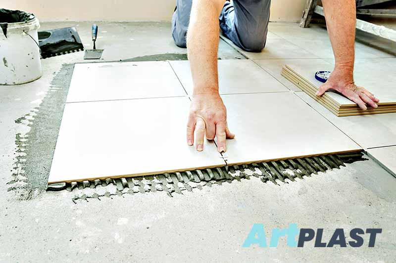 Krzyżaki Art-Plast- układanie płytek podłowgowych